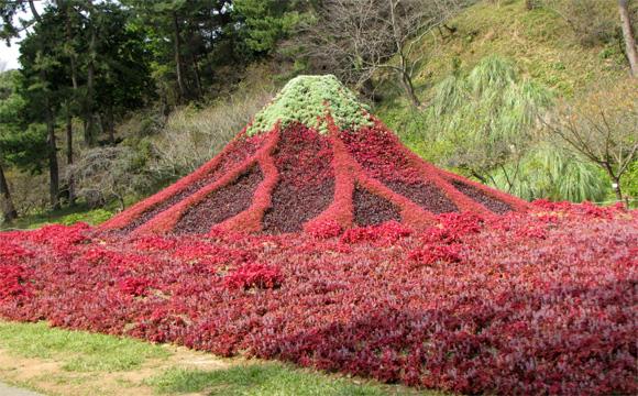 紅雲の雪景富士
