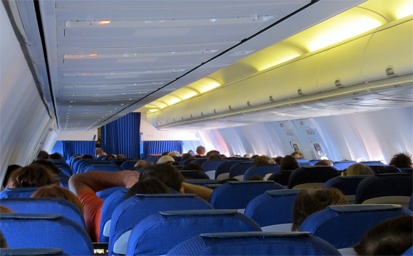 KLMオランダ航空機・機内