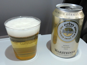 機内食・ビール