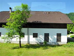 ザンクト・ヴォルフガングへの道風景