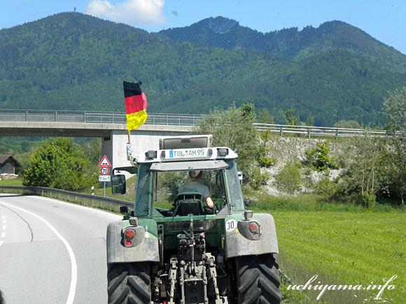 ザルツブルクへの道風景