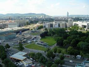 観覧車からのウィーン市街