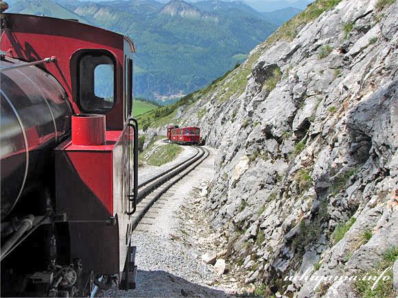 シャーフベルク登山鉄道・下り