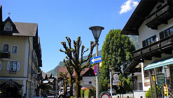 ザンクト・ヴォルフガングの街角