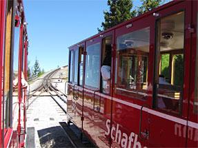 シャーフベルク登山鉄道・上り