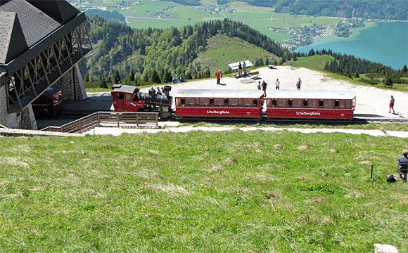 シャーフベルク登山鉄道山頂駅