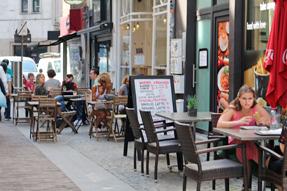 アントワープ・オープンカフェ