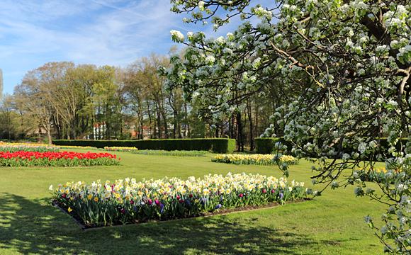 グランビガール城の庭園