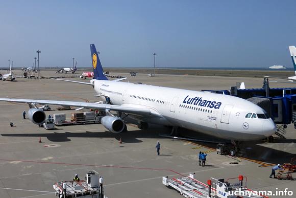 中部国際空港・ルフトハンザ航空機
