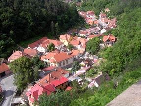 カルルシュテイン城からの景観