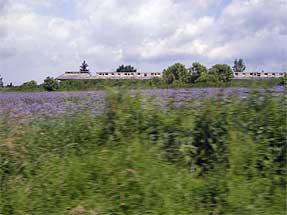 チェスキークルムロフへの道風景