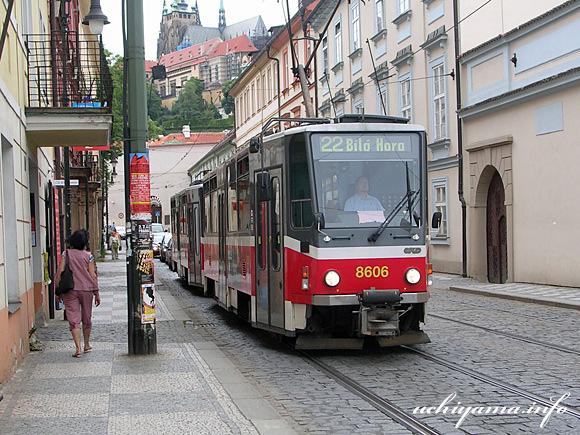 プラハ市街・路面電車