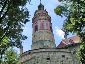 チェスキー・クルムロフ城の塔からの眺望