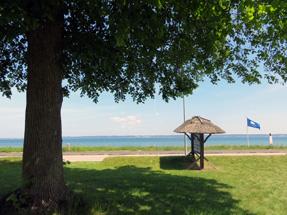 Julebakhus前の海岸