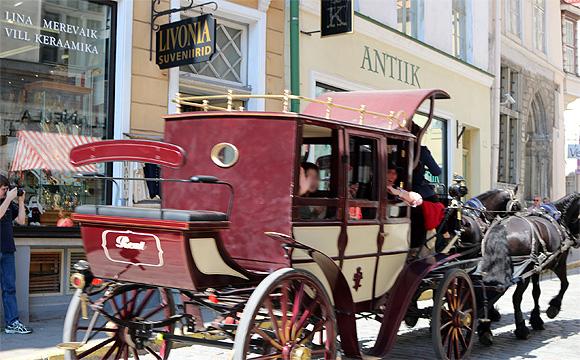 タリンの観光馬車