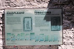 聖カタリーナの小径・墓石