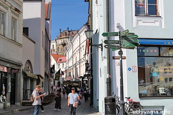 タリン・旧市街の通り