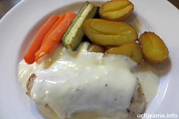 タラ(クリームソース)+温野菜