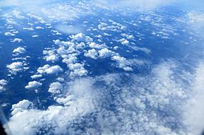ラトビア〜ロシア上空