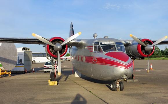 展示されている飛行機