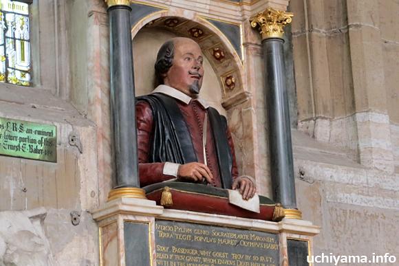 ホーリー・トリニティ教会・シェイクスピアの像