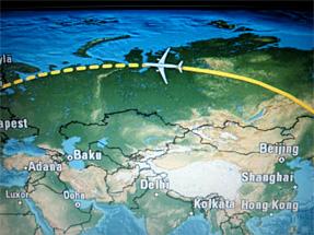 ヘルシンキへの空旅