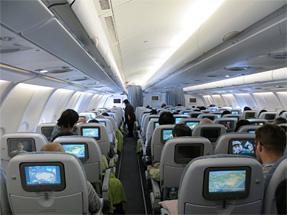 フィンランド航空機・機内