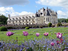 シュノンソー城、ディアーヌ・ド・ポワティエの庭園