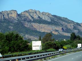 アヴィニヨンへの道風景