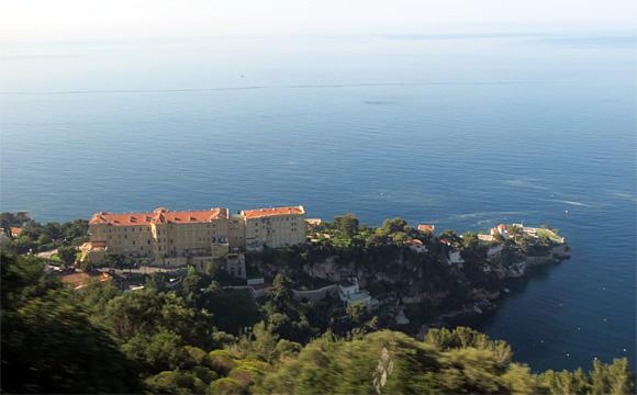 モナコへの道風景