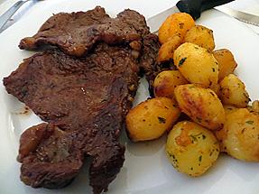 リブステーキ+ポテト