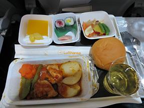 機内食・鶏胸肉のソテー