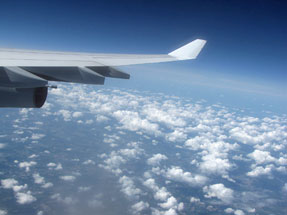 フランクフルトへの空旅