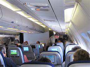 ルフトハンザ・ドイツ航空の機内