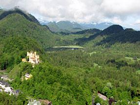 ノイシュヴァンシュタイン城からの眺望