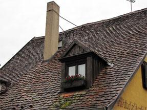 ローテンブルクの家の三角屋根