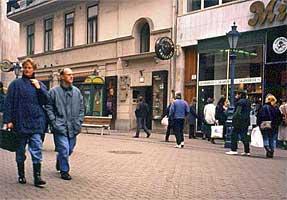 ブダペスト繁華街