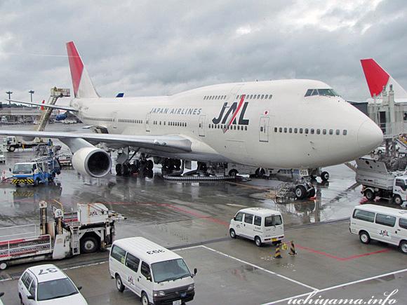 ミラノへの空・成田国際空港の搭乗するJAL