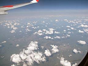 ミラノへの空・ウラジオストック付近上空