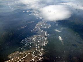 ミラノへの空・シベリア上空