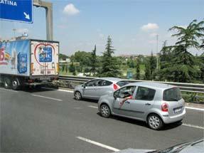 ローマ空港への道