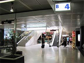 ローマ空港内