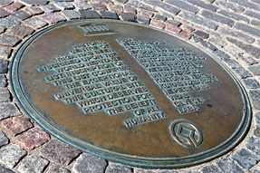 リガ大聖堂・ユネスコ世界遺産のプレート