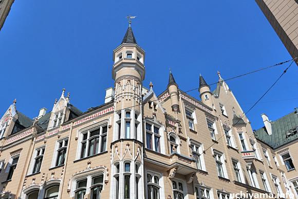 リガ旧市街・ギルドの建物