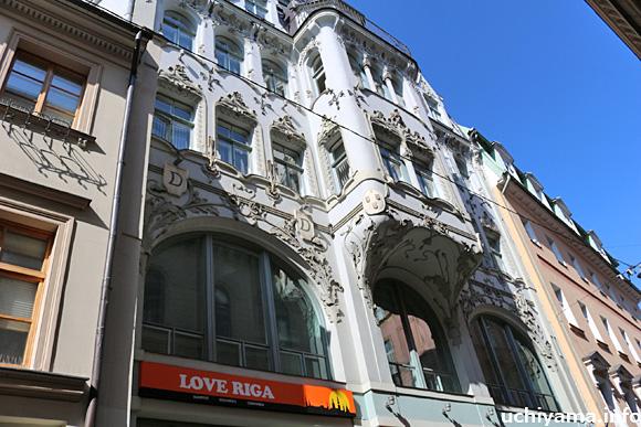 リガのユーゲントシュティール建築