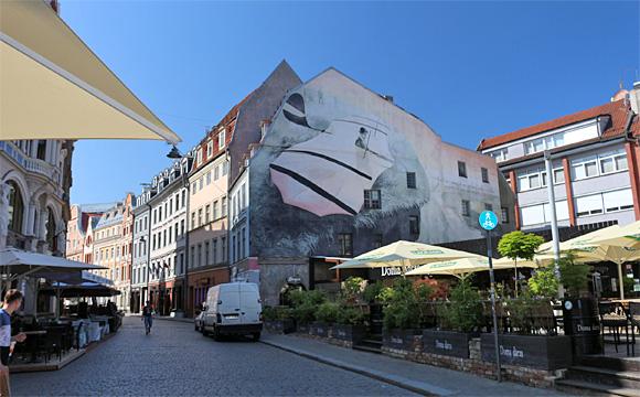 リガ旧市街・外壁の絵