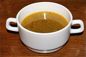 灰色豆のスープ