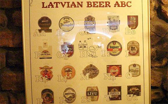 ラトビアビールの銘柄