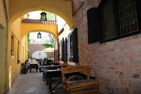 ビリニュスのオープンカフェ