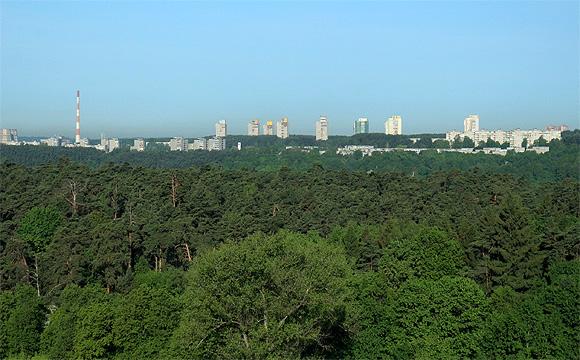 クラウンプラザ(CROWNE PLAZA VILNUS)からの眺望
